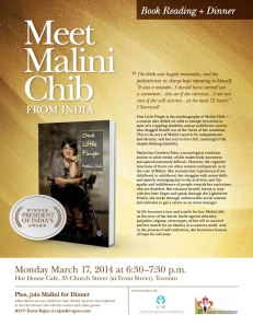 MaliniChib -Book Reading March 17th